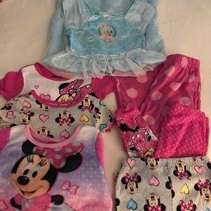 💙7 Piece Toddler Girl Disney Pajama Sets💙